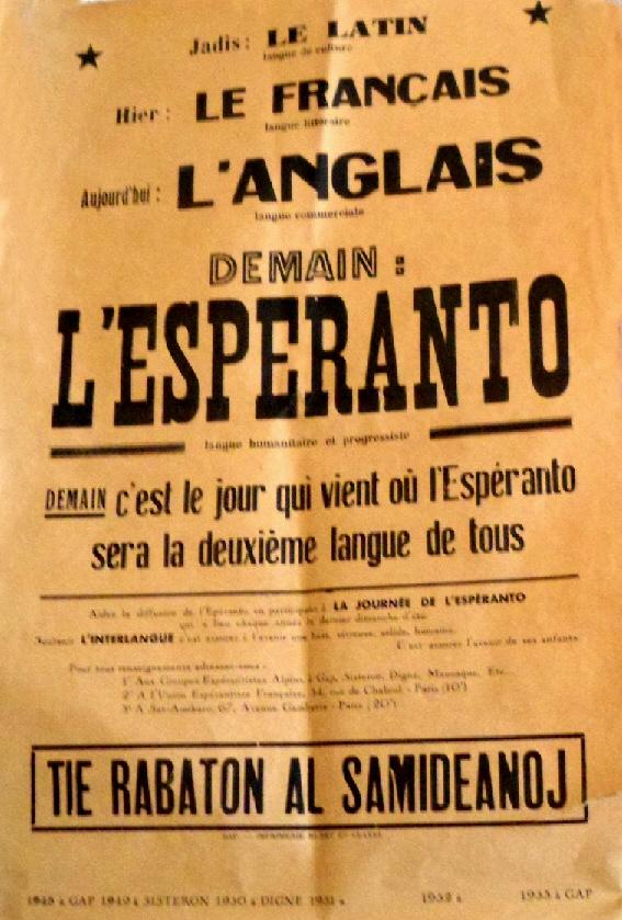 L'espéranto demain