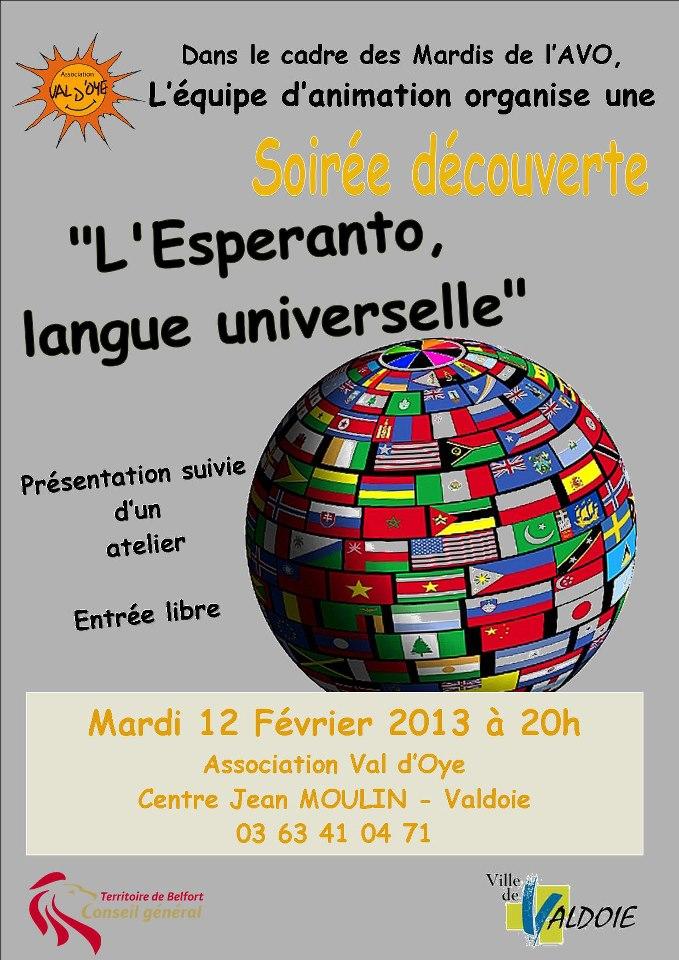 Découvrir l'espéranto le 12 février 2013